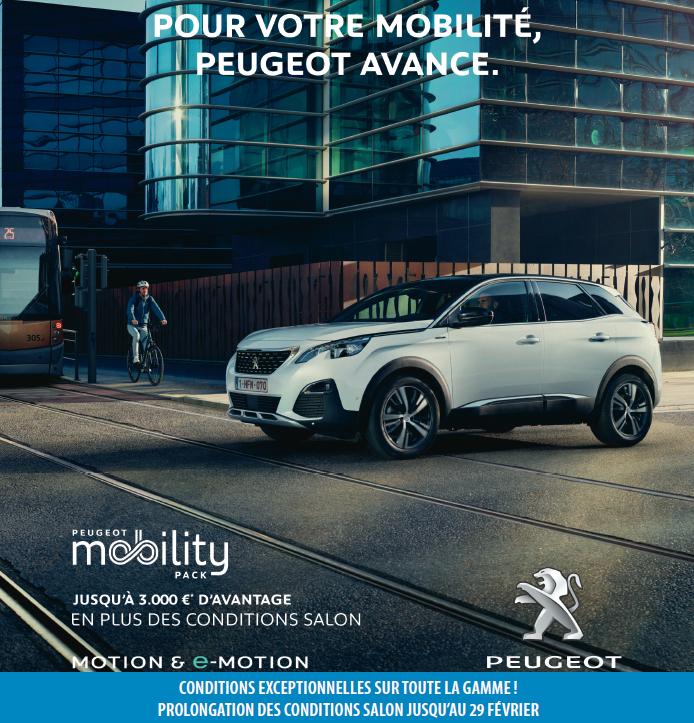Pub Peugeot pater fevrier 2020